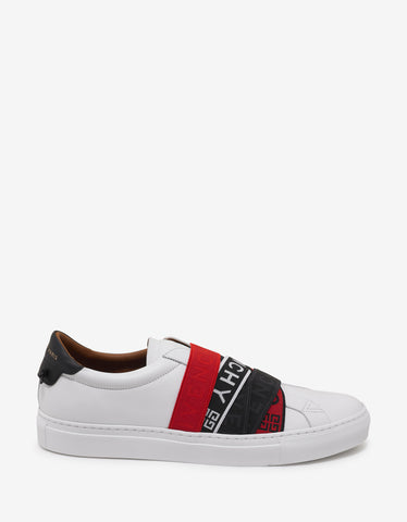 Givenchy White 4G Webbing Urban Street Trainers