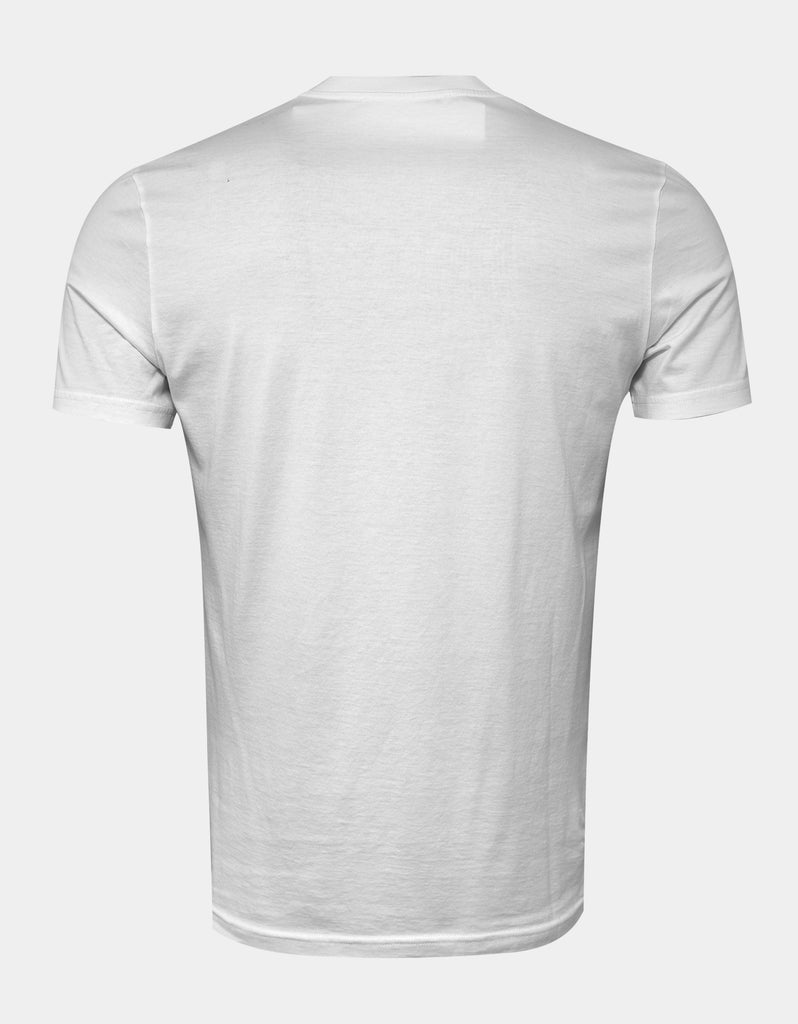 White Cracked Logo Slim Fit T-Shirt