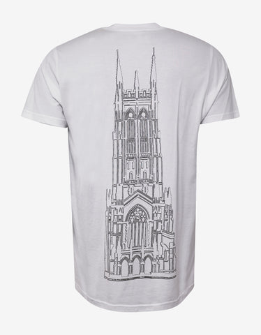 Givenchy White Cathedral Print Modern Fit T-Shirt