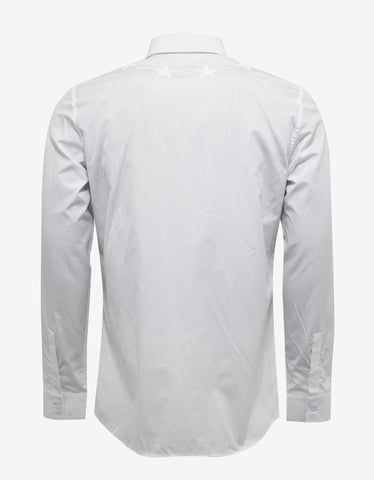 Givenchy White Contemporary Fit Shirt with Stars