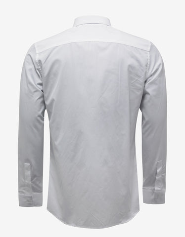 Givenchy White Contemporary Fit Shirt with Stars & Band