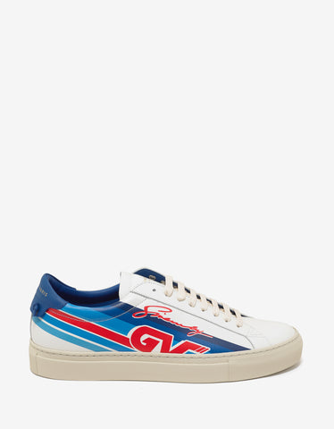 Givenchy White GV Motocross Print Trainers