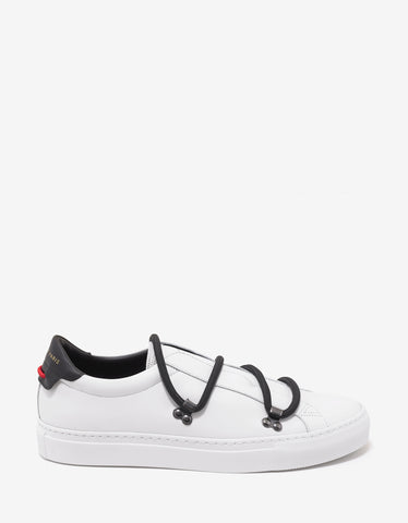 Givenchy White Low Trainers with Elastic Laces