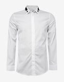 White Slim Fit Shirt with Stars & Band