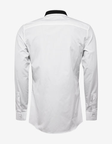 Givenchy White Slim Fit Shirt with Stars & Band
