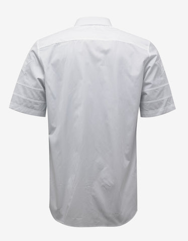 Givenchy White Stars & Band Short Sleeve Shirt