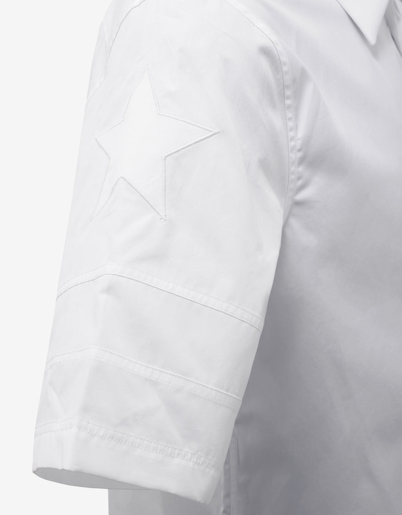 White Stars & Band Short Sleeve Shirt