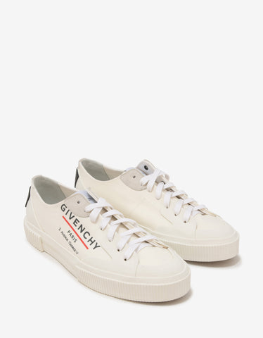 Givenchy White Tennis Light Low Canvas Trainers