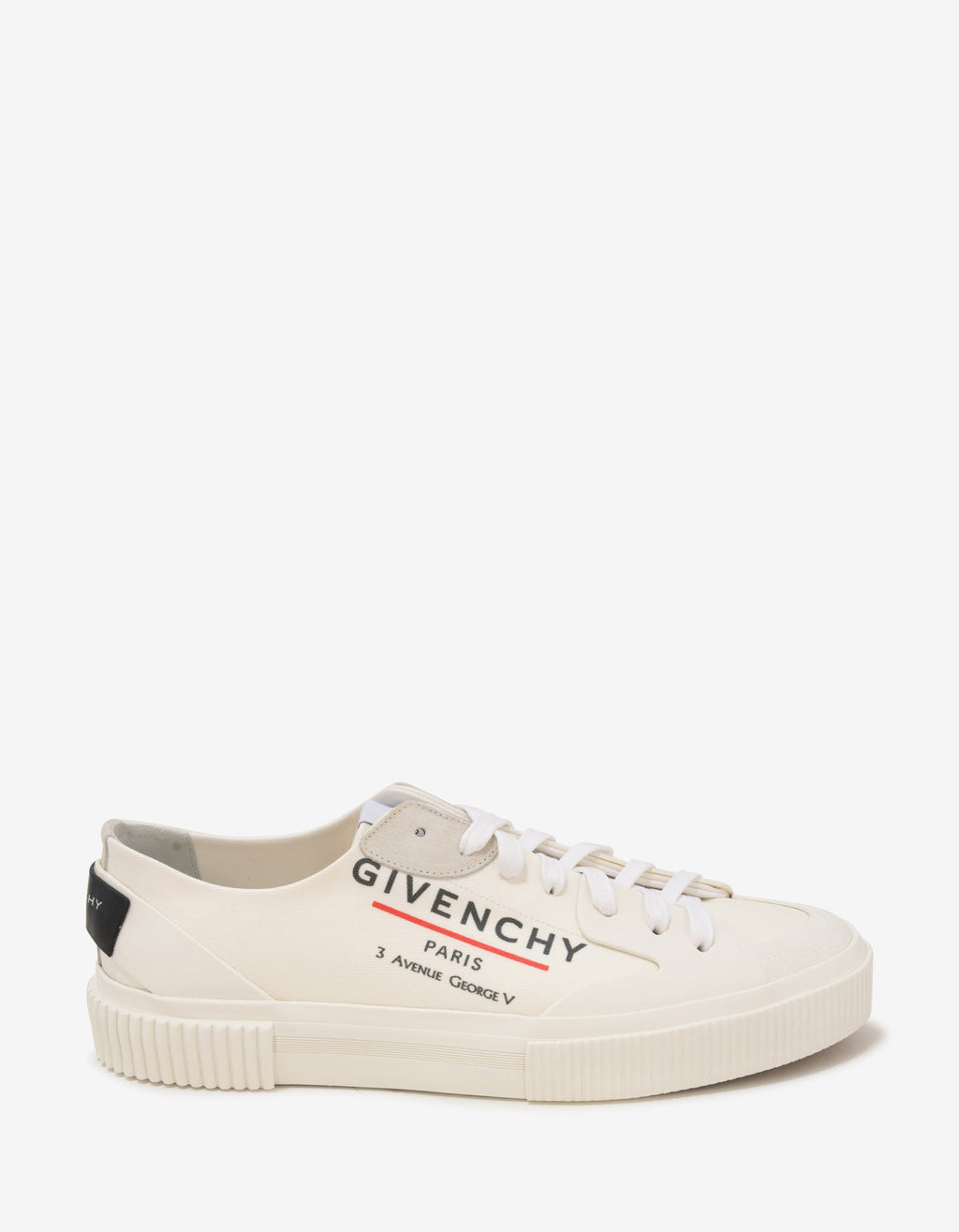 White Tennis Light Low Canvas Trainers