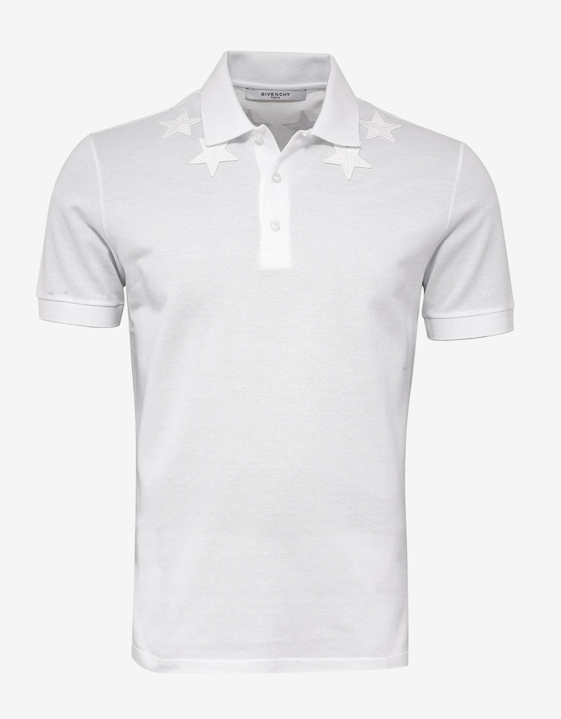 3a16b3b8 Givenchy White Cuban Fit Polo T-Shirt with Tonal Stars – ZOOFASHIONS.COM