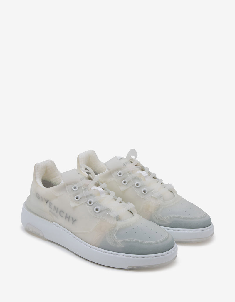 White Translucent Wing Low Trainers