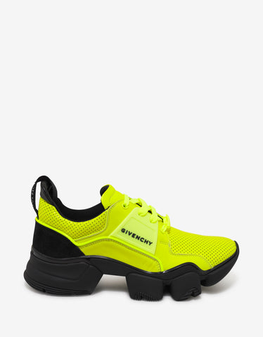 Givenchy Yellow Leather Jaw Trainers