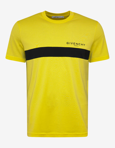 Givenchy Yellow Logo Slim Fit T-Shirt