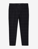 Fugu Black Tonal Stripe Cotton Blend Jeans