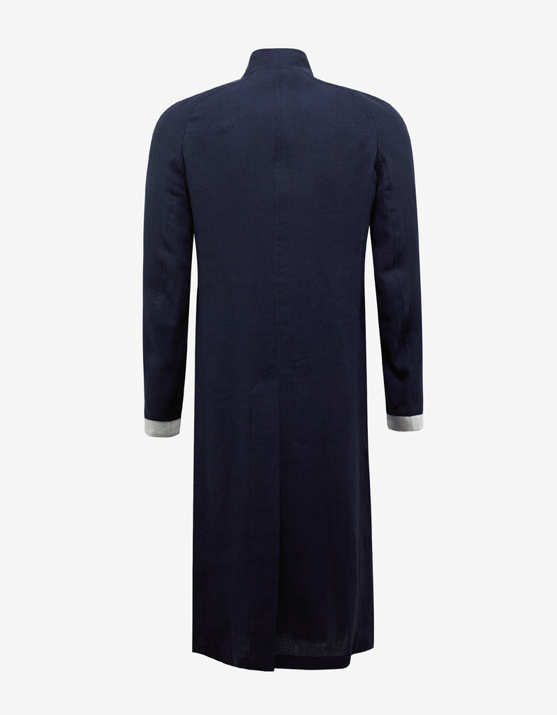 Agrippina Navy Blue Long Coat
