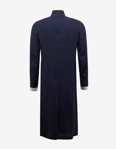 Haider Ackermann Agrippina Navy Blue Long Coat