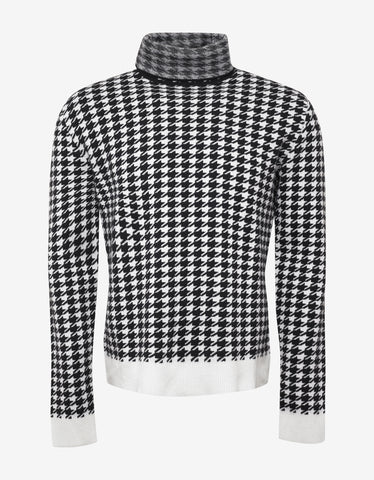 Haider Ackermann Invidia Dogtooth Check Roll Neck Sweater