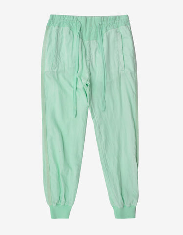 Haider Ackermann Saglia Mint Green Jogging Pants