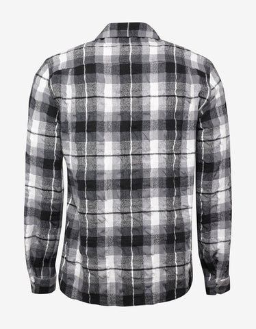 Haider Ackermann Prestini Black & White Creased Check Shirt