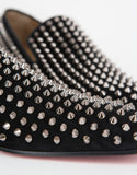 Dandelion Spikes Black Suede Loafers