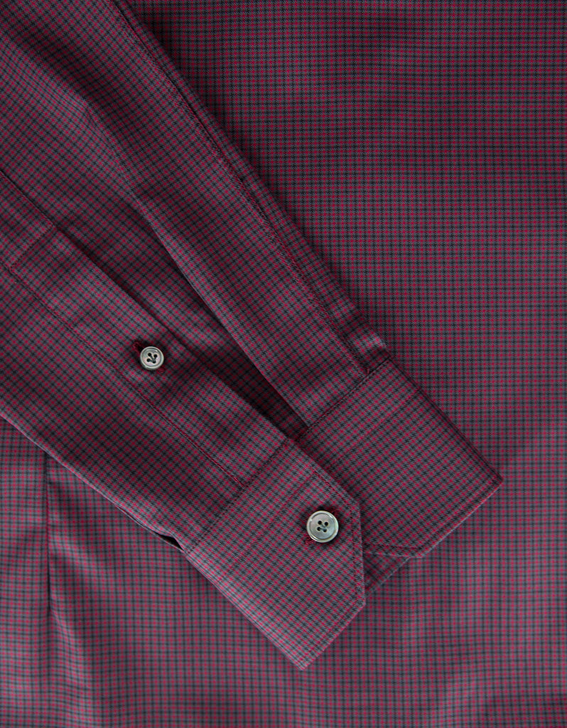 Check Shirt with Grosgrain Collar