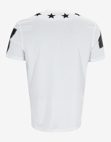Givenchy White '74' Cuban T-Shirt with Stars