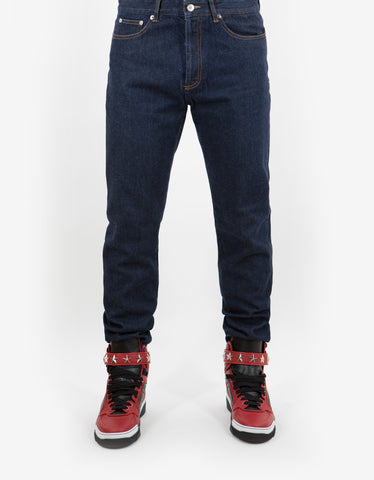 Givenchy Blue Star Print Denim Jeans