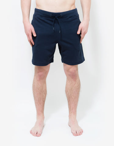 Orlebar Brown Navy Blue Afador Sweat Shorts