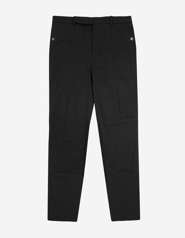 Balenciaga Black Contrast Panel Trousers