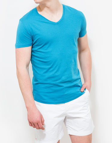 Orlebar Brown Surf Blue Bobby V-Neck T-Shirt