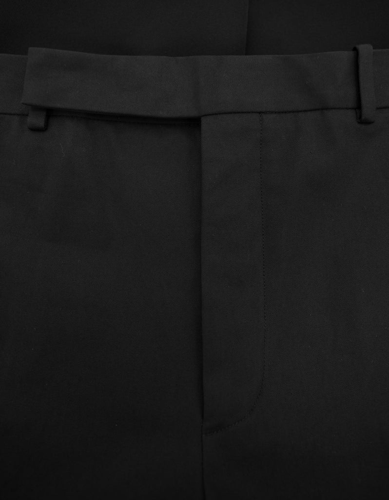 Black Contrast Panel Trousers
