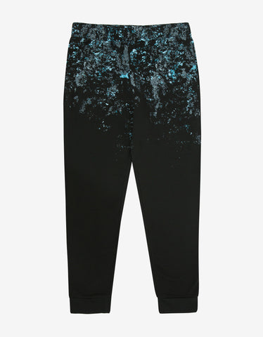 Balenciaga Black Greenland Print Sweat Pants