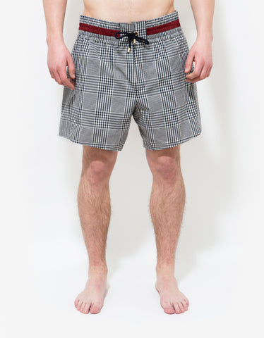 Moncler Gamme Bleu Check Pattern Swim Shorts