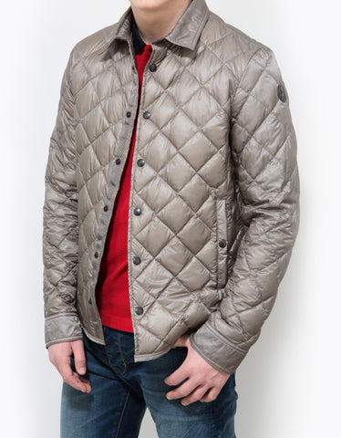 Moncler Frederic Grey Quilted Lightweight Jacket