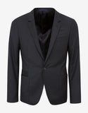 Black Slim-Fit Wool Blazer