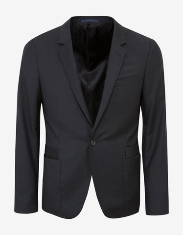 Lanvin Black Slim-Fit Wool Blazer
