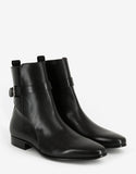 Buckley Black Leather Ankle Boots