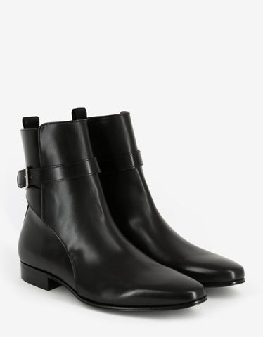 Givenchy Buckley Black Leather Ankle Boots