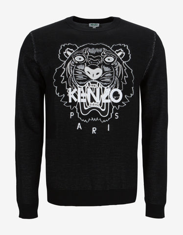 Kenzo Black Tiger Head Sweater