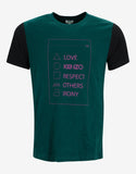 Green Care Instructions Print T-Shirt