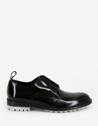 Balenciaga Black Leather Derby Shoes