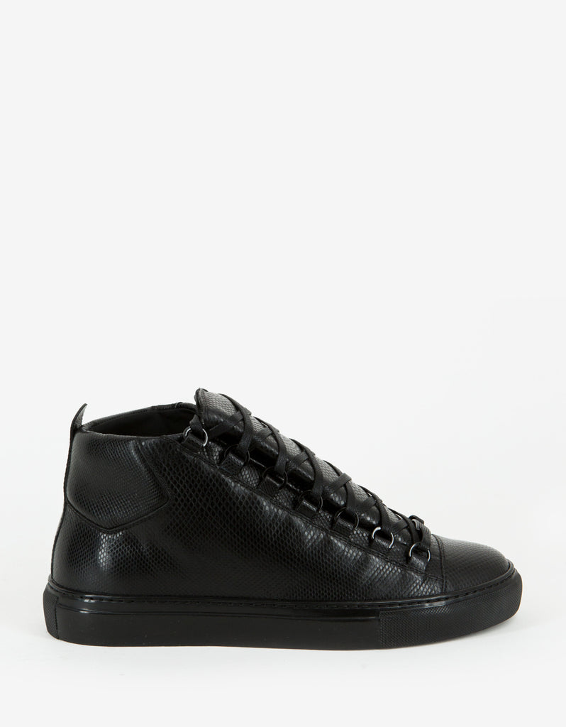 Black Water Snake High Top Trainers