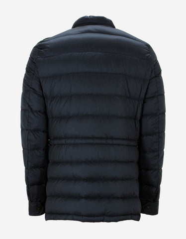 Moncler Laurent Navy Blue Nylon Down Jacket