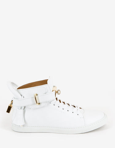 Buscemi 100mm White High Top Trainers