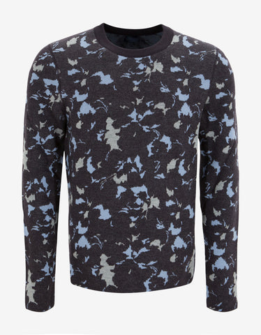 Lanvin Abstract Floral Wool Sweater
