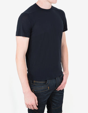 Rick Owens Passport Blue Crew Neck T-Shirt