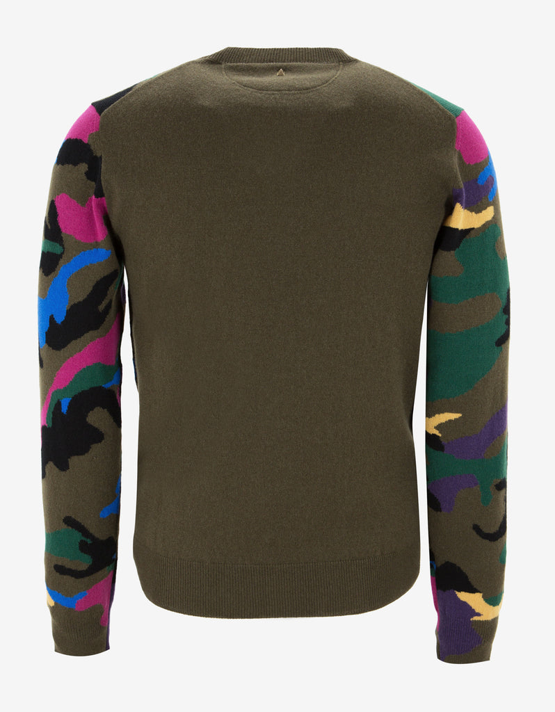 Multicolour Camouflage Cashmere Knitwear