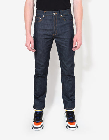Givenchy Blue Denim Jeans with Stars