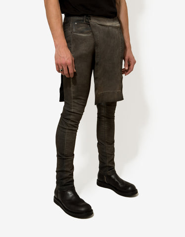 DRKSHDW by Rick Owens Darkdust Grey Savage Detroit Skinny Jeans