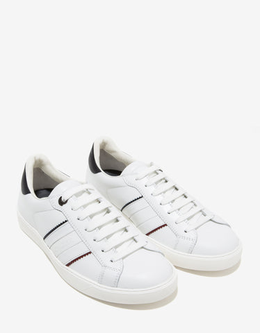 Moncler New Gourette White Leather Trainers